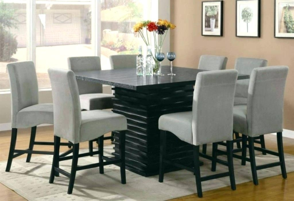 Glass Dining Table And Chairs Dining Room Astounding Glass Dining Regarding 8 Chairs Dining Sets (Image 20 of 25)