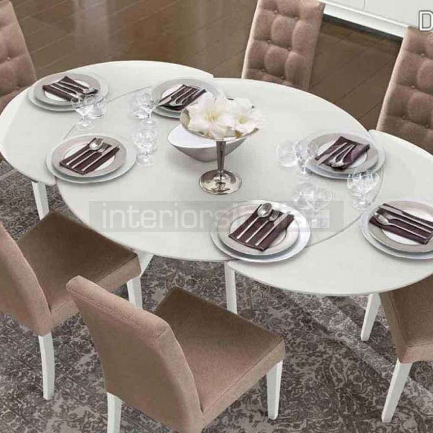 Glass Dining Table | Dama Bianca | Sale Now On With Glass Round Extending Dining Tables (Image 10 of 25)