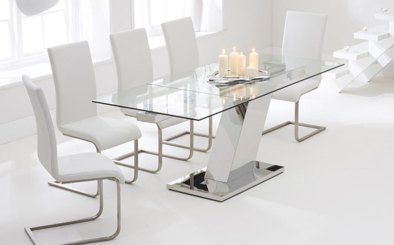 Glass Dining Table Sets | Great Furniture Trading Company | The Regarding Extending Glass Dining Tables (Image 13 of 25)