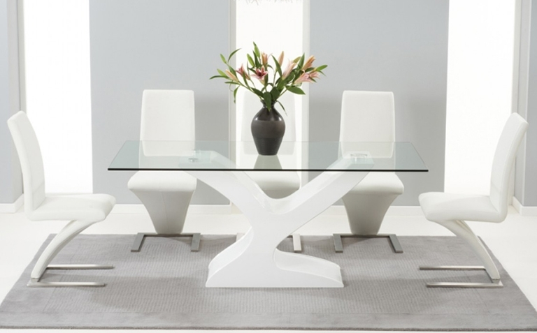 Glass Dining Table Sets | Great Furniture Trading Company | The With Rectangular Dining Tables Sets (Image 14 of 25)