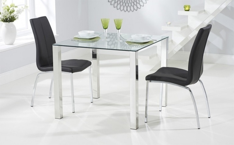 Glass Dining Table Sets | Great Furniture Trading Company | The With Regard To Glass Dining Tables And Chairs (View 10 of 25)