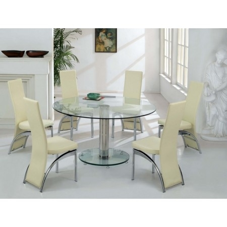 Glass Dining Table | Wooden Dining Room Chairs With Regard To Glass Dining Tables With 6 Chairs (Image 13 of 25)