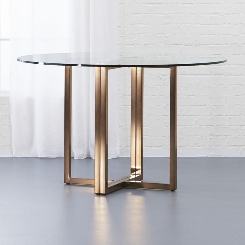 Glass Dining Tables | Cb2 Throughout Circle Dining Tables (Image 11 of 25)