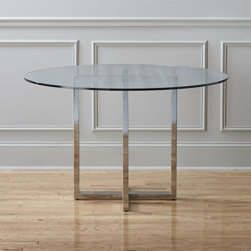 Glass Dining Tables | Cb2 With Round Acrylic Dining Tables (Image 13 of 25)