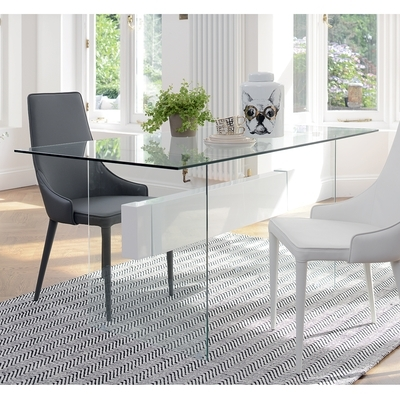 Glass Dining Tables | Contemporary Dining Room Furniture From Dwell in Glasses Dining Tables