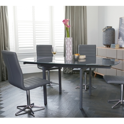 Glass Dining Tables | Contemporary Dining Room Furniture From Dwell Intended For Grey Glass Dining Tables (View 13 of 25)