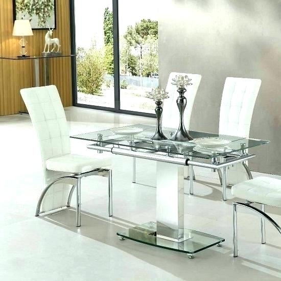 Glass Extendable Dining Table – Hengstkatalog Regarding Glass Folding Dining Tables (Image 13 of 25)