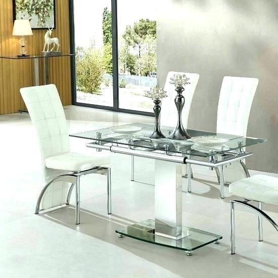 Glass Extendable Dining Table – Hengstkatalog regarding Glass Folding Dining Tables