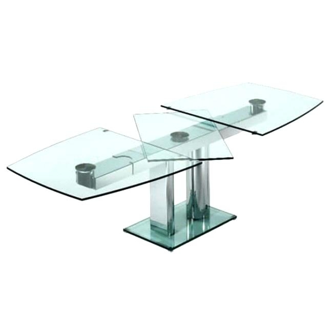 Glass Folding Dining Table Extendable Alluring Extending And Chairs Inside Glass Folding Dining Tables (Image 15 of 25)