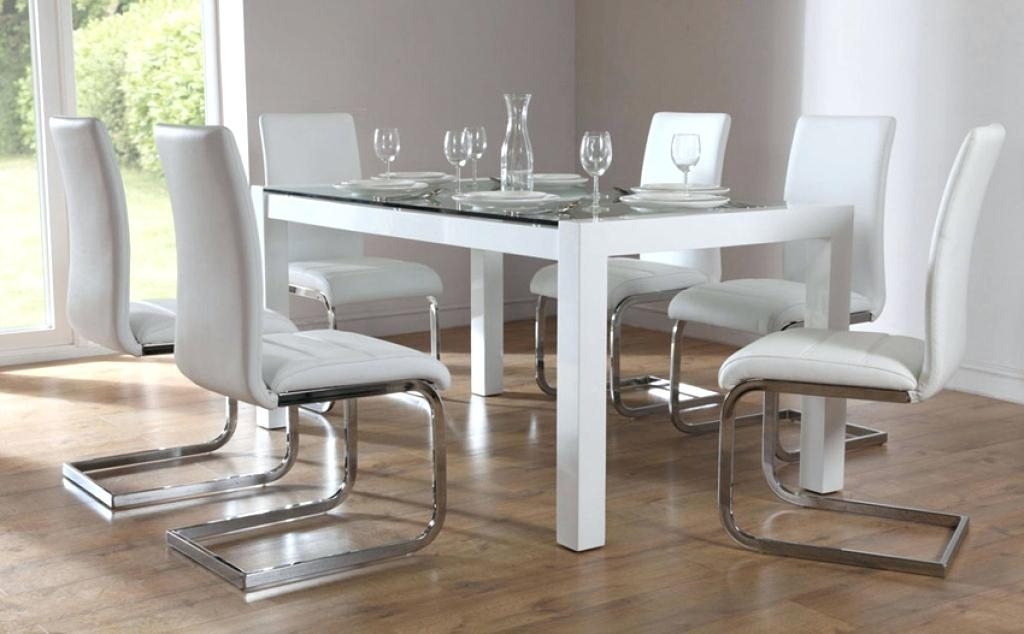 Glass Kitchen Table Sets Modern Glass Dining Room Tables With Worthy Inside Glass Dining Tables Sets (Image 16 of 25)