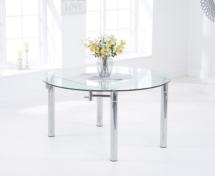 Glass Round Extending Dining Table | In Walsall, West Midlands | Gumtree Within Glass Round Extending Dining Tables (View 6 of 25)