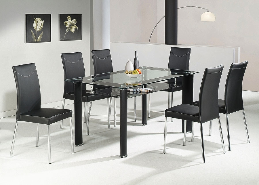 Glass Tables & 6 Chairs : Tbs Discount Furniture, A Large Selection inside Glass Dining Tables and 6 Chairs