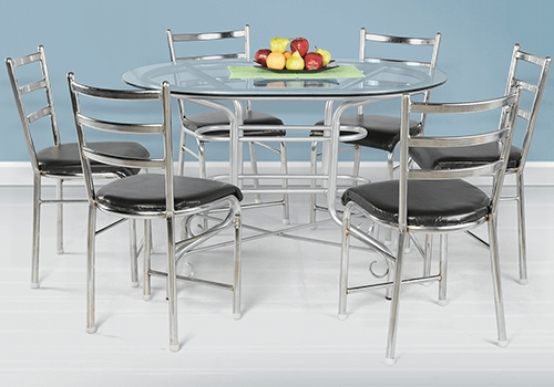 Glass Top 6 Seater Dining Table Set On Rent In Bangalore – Guarented Pertaining To 6 Seater Glass Dining Table Sets (Image 19 of 25)