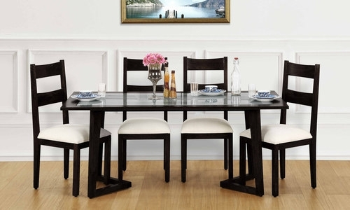 Glass Top 6 Seater Dining Tables, 6 Seater Dining Table Set – Gunjan Regarding Glass 6 Seater Dining Tables (Image 16 of 25)