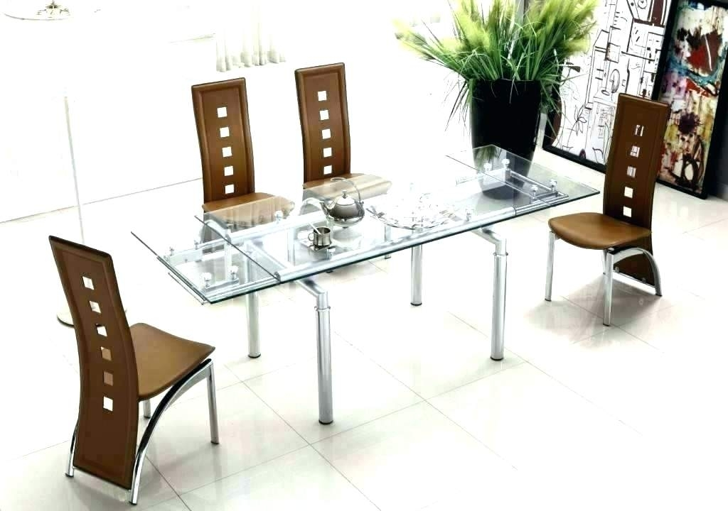 Glass Top Dining Set – Ayeshafashion Throughout Glass Dining Tables Sets (Image 17 of 25)