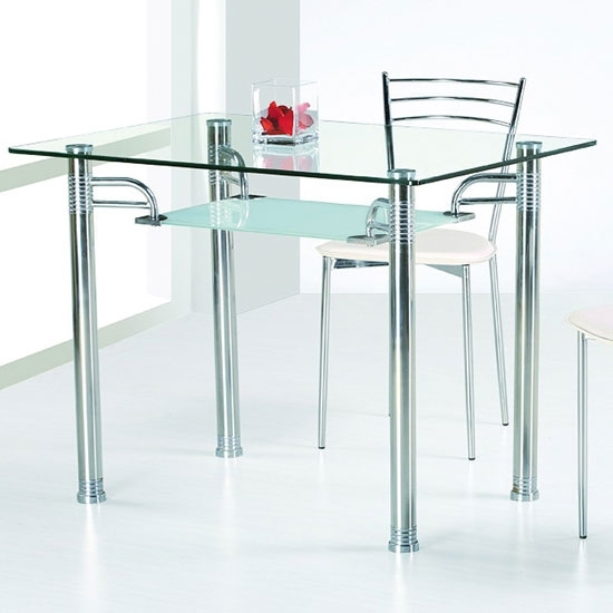 Glass Top Dining Tables | Homesfeed With Regard To Glass And Stainless Steel Dining Tables (Image 13 of 25)