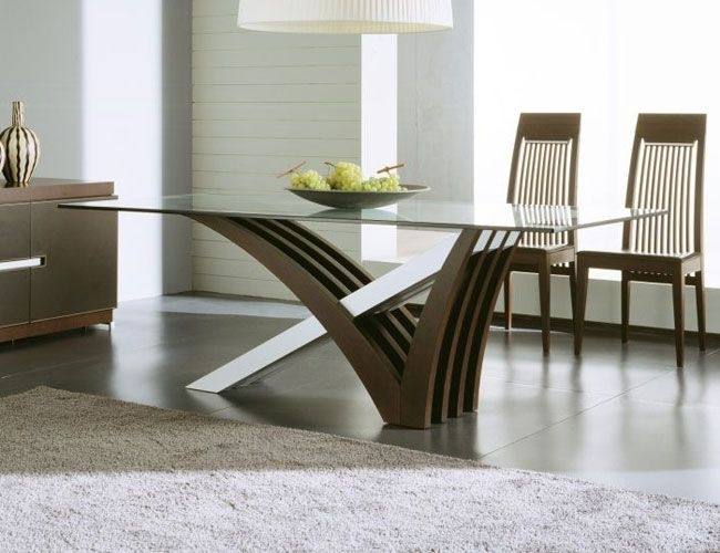 Glass Top Modern Dining Tables – Lendance Intended For Modern Dining Tables (Image 13 of 25)
