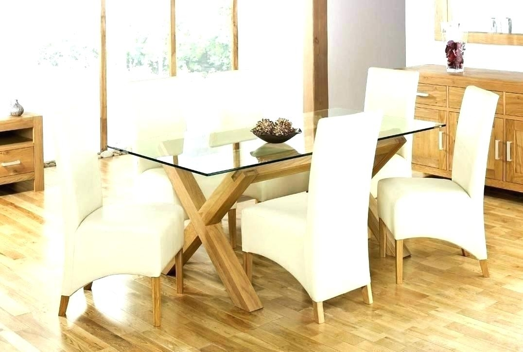 Glass Top Oak Dining Table Glass Top Oak Round Dining Table – Buxenz Intended For Oak Glass Top Dining Tables (Image 13 of 25)