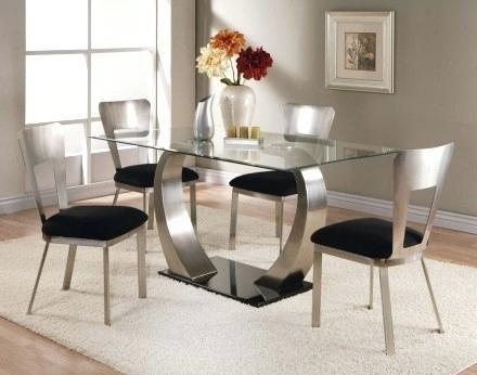 Glass Top Rectangular Dining Table – Bienmaigrir for Rectangular Dining Tables Sets