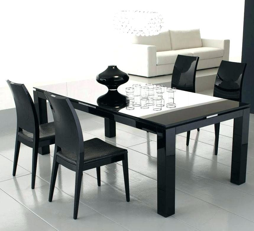 Glass Top Square Dining Table – Sakam inside Square Black Glass Dining Tables