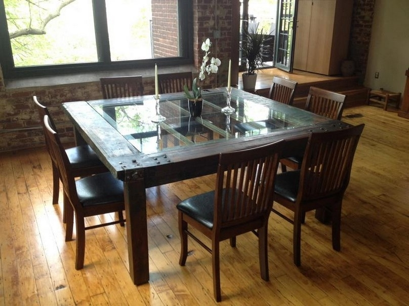 Glass Wood Dining Table Glass And Wood Dining Tables Qjauevn – Home Inside Wood Glass Dining Tables (Image 15 of 25)