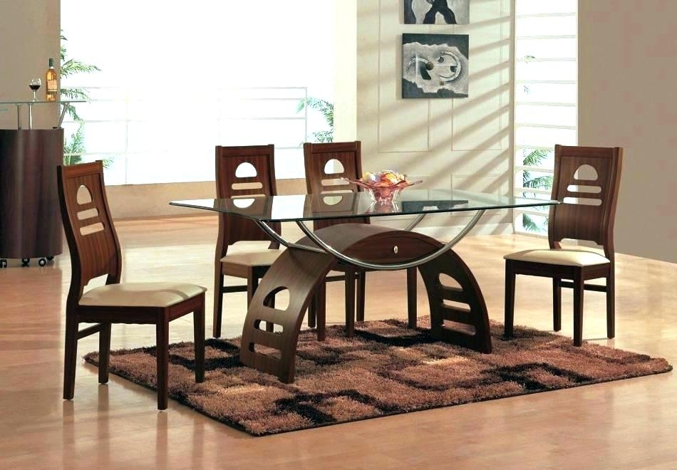 Glass Wood Dining Table Sets – Bienmaigrir For Wooden Glass Dining Tables (Image 14 of 25)