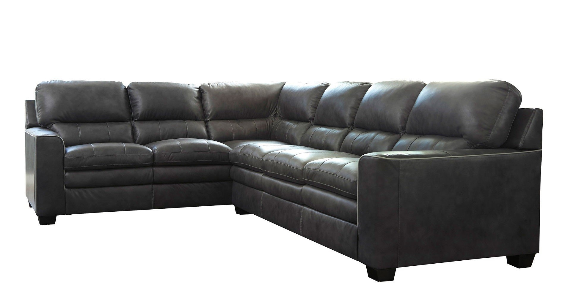 Gleason Charcoal Right Sofa Sectional – Living Room Furniture – Living In Lucy Dark Grey 2 Piece Sleeper Sectionals With Laf Chaise (Image 5 of 25)