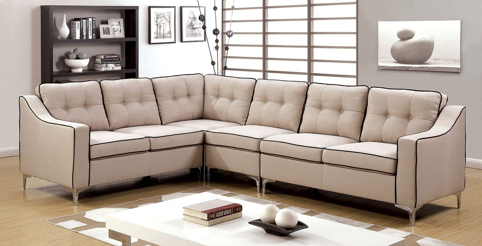 Glenda Ii Contemporary Sectional | Products intended for Aidan 4 Piece Sectionals