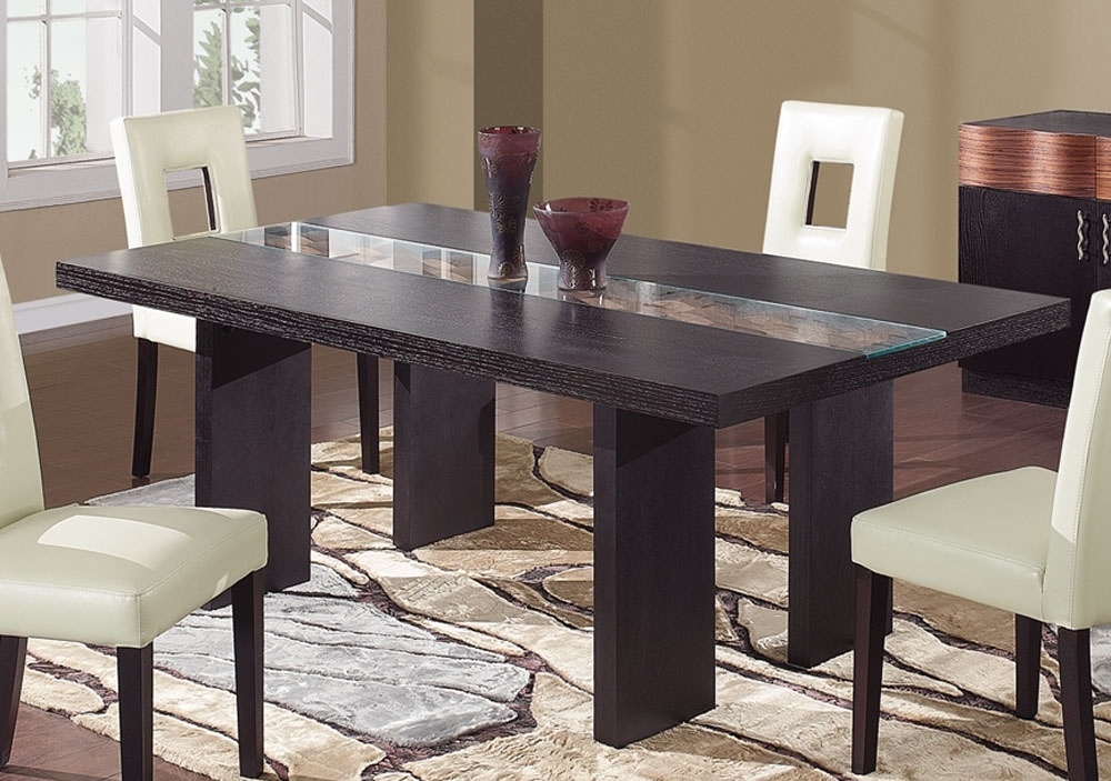 Global Furniture Usa Amanda Dining Table – Dark Brown Gf Amanda Dt Inside Dark Dining Tables (Image 15 of 25)