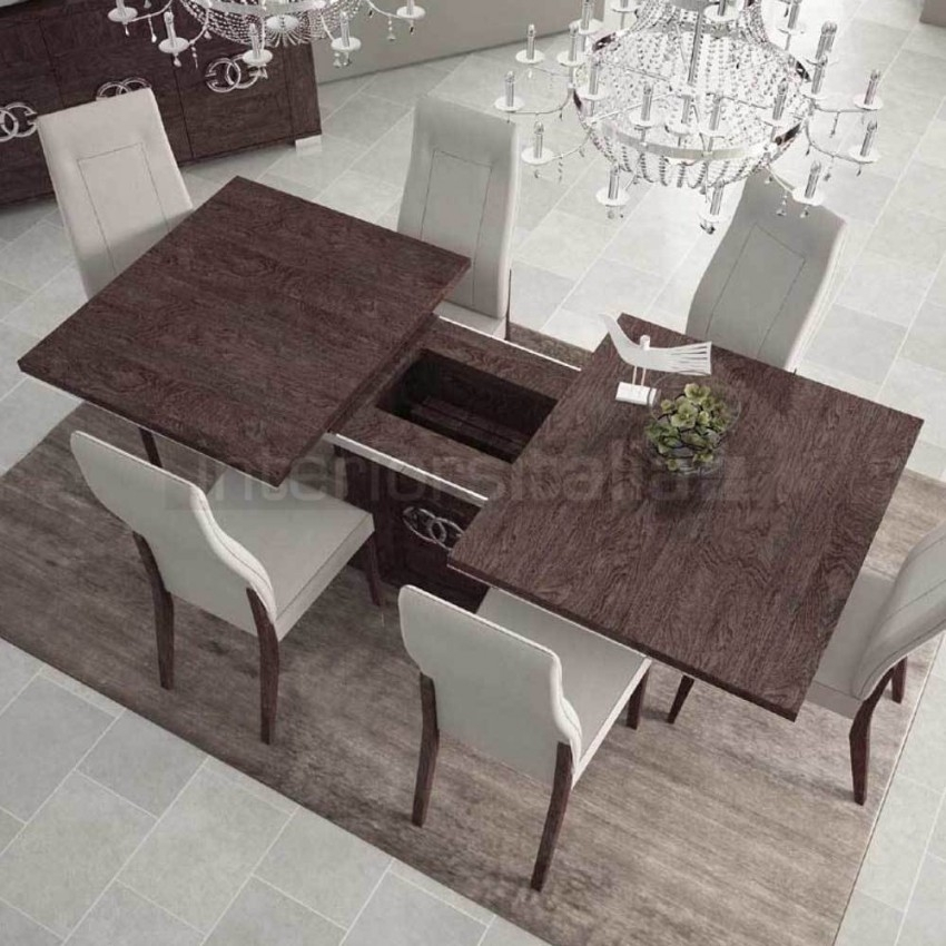 Gloss Dining Set | Extending | Umber Birch | Sale With Regard To Extending Marble Dining Tables (Image 11 of 25)