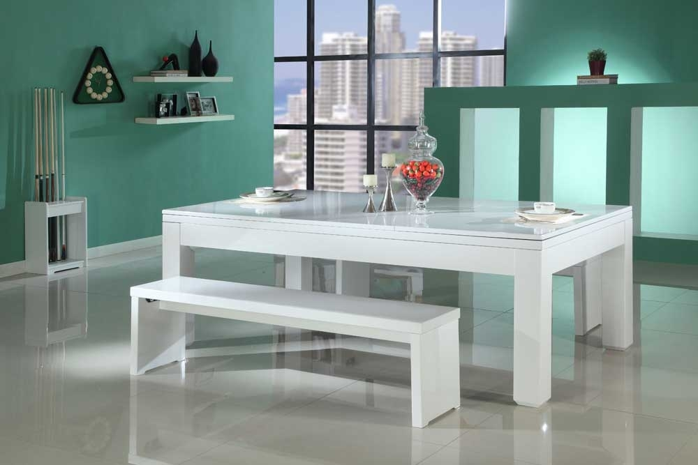 Gloss White Pool Dining Table – Custom Snooker with Gloss White Dining Tables