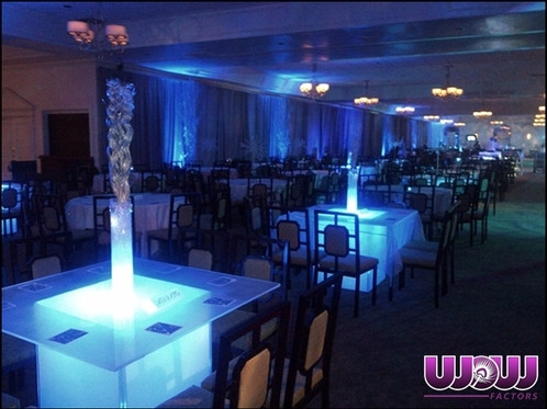Glow Dining Tables (Square) regarding Dining Tables With Led Lights