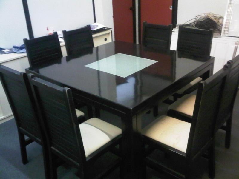 Good Dining Table On Cicero Modern Black Square Pedestal Inside Square Black Glass Dining Tables (Photo 20 of 25)