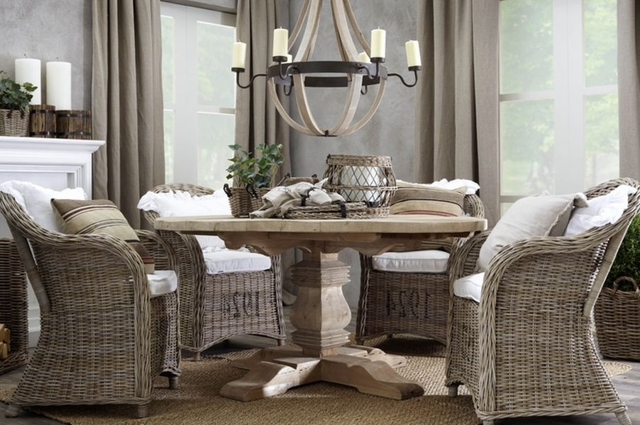 Good Wicker Dining Room Chairs | Inspiration Home Magazine Throughout Rattan Dining Tables And Chairs (Image 6 of 25)