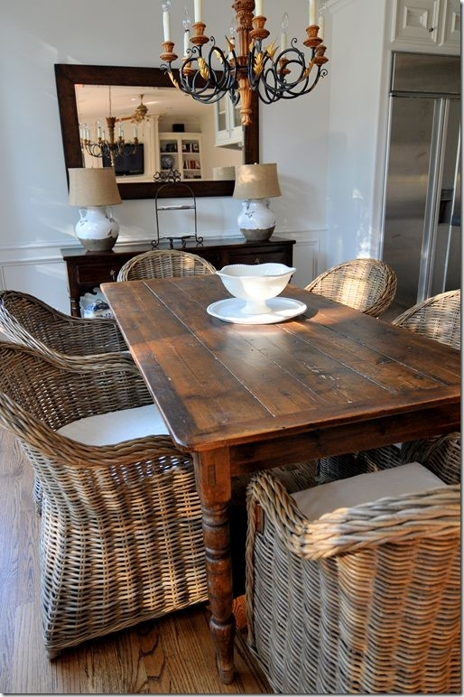 Good Wicker Dining Room Chairs | Inspiration Home Magazine With Regard To Rattan Dining Tables And Chairs (Image 7 of 25)