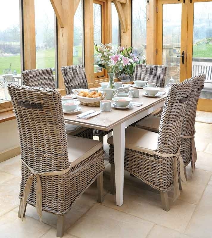 Good Wicker Dining Room Chairs — New Home Design : Wicker Dining Regarding Rattan Dining Tables And Chairs (Image 5 of 25)