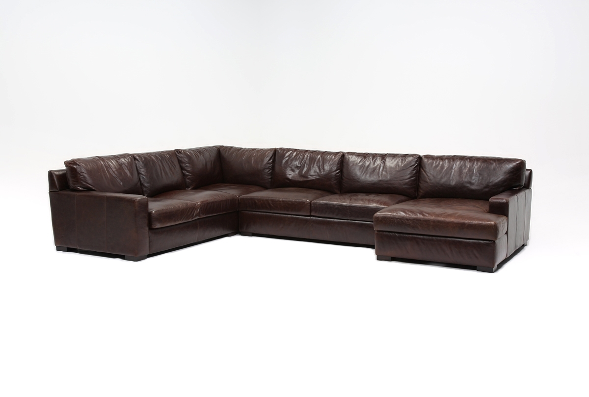 Gordon 3 Piece Sectional W/raf Chaise | Living Spaces With Gordon 3 Piece Sectionals With Raf Chaise (Image 9 of 25)