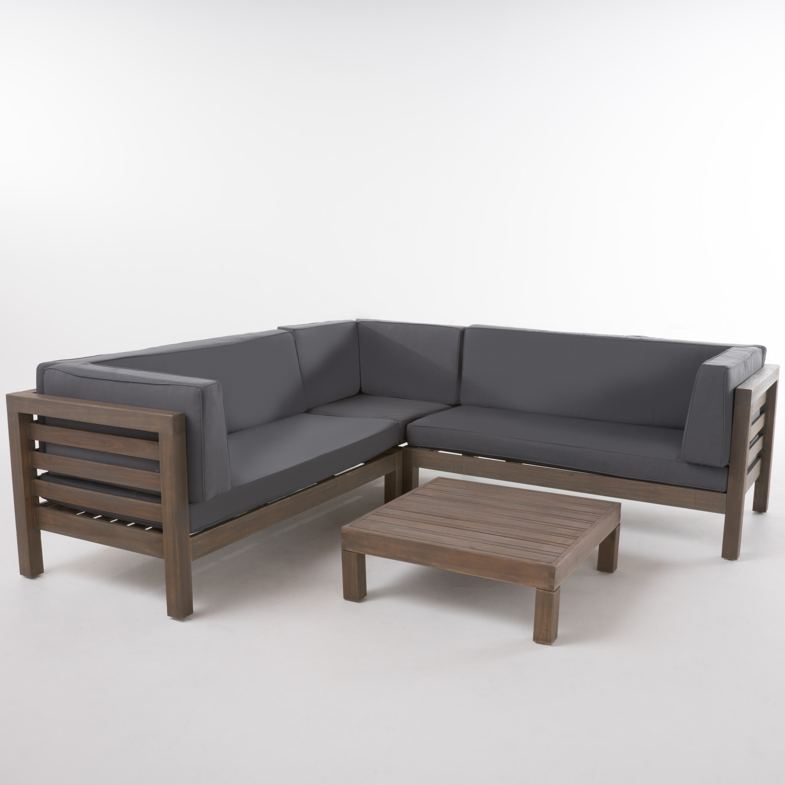 Gracie Oaks Birdsboro 4 Piece Sectional Set With Cushions & Reviews In Karen 3 Piece Sectionals (Image 10 of 25)