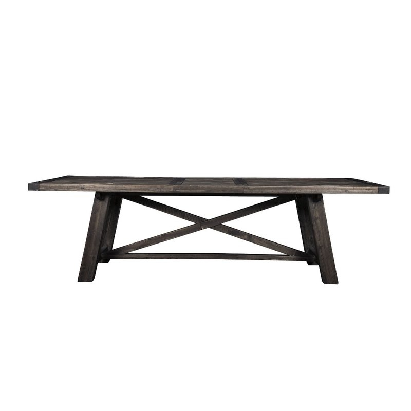 Gracie Oaks Lineberry Extendable Solid Wood Dining Table | Wayfair Within Amos 7 Piece Extension Dining Sets (Image 12 of 25)