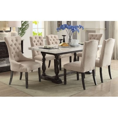 Gracie Oaks Twomey 7 Piece Dining Set In 2018 | Products | Dining With Regard To Cora 7 Piece Dining Sets (Photo 17 of 25)