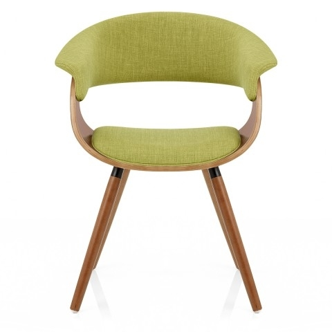 Grafton Dining Chair Walnut & Green – Atlantic Shopping Throughout Dining Chairs (Image 13 of 25)