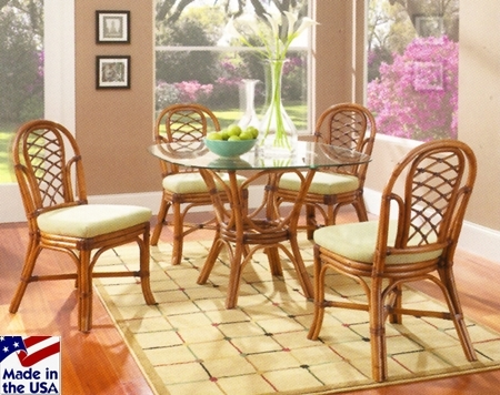 Featured Image of Wicker And Glass Dining Tables