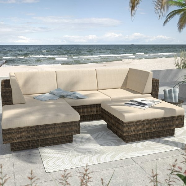 Grand Resort Outdoor Furniture | Wayfair With Palazzo 6 Piece Dining Sets With Pearson Grey Side Chairs (Image 14 of 25)