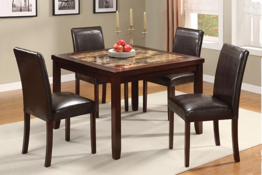 Granite Dining Table Set Flooding The Dining Room With Elegance With Regard To Cheap Dining Tables Sets (View 12 of 25)
