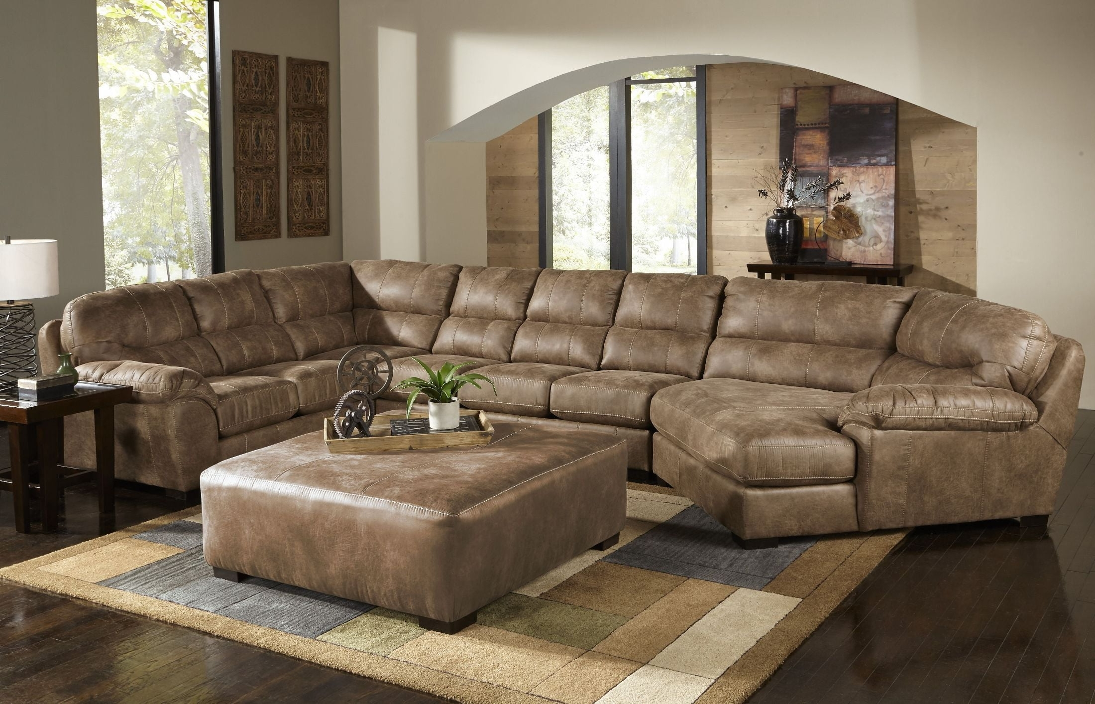 Grant Silt Laf Chaise Sectional, 4453 75 122749302749, Jackson Intended For Avery 2 Piece Sectionals With Laf Armless Chaise (Image 15 of 25)