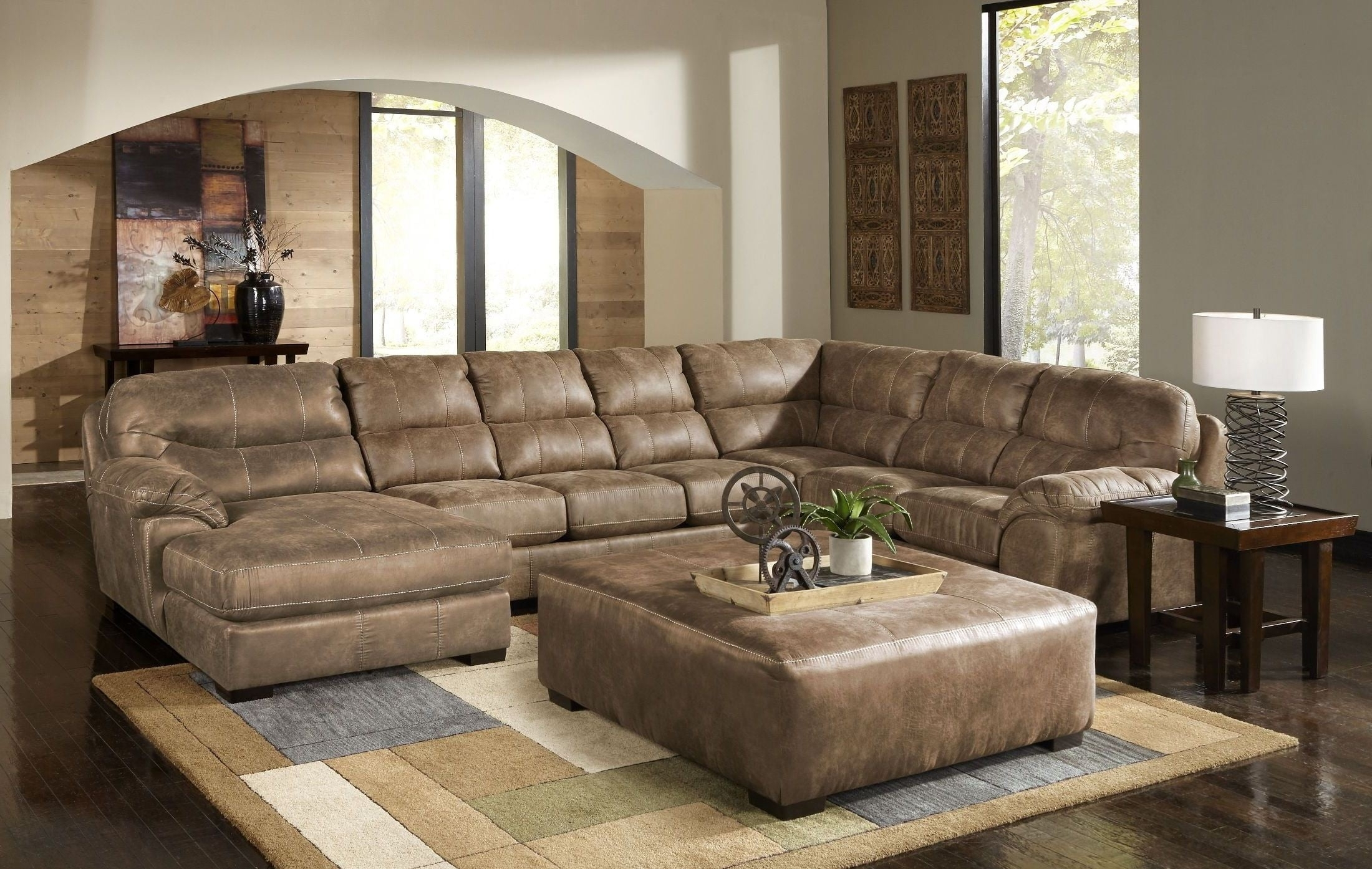 Grant Silt Laf Chaise Sectional, 4453-75-122749302749, Jackson with Avery 2 Piece Sectionals With Laf Armless Chaise