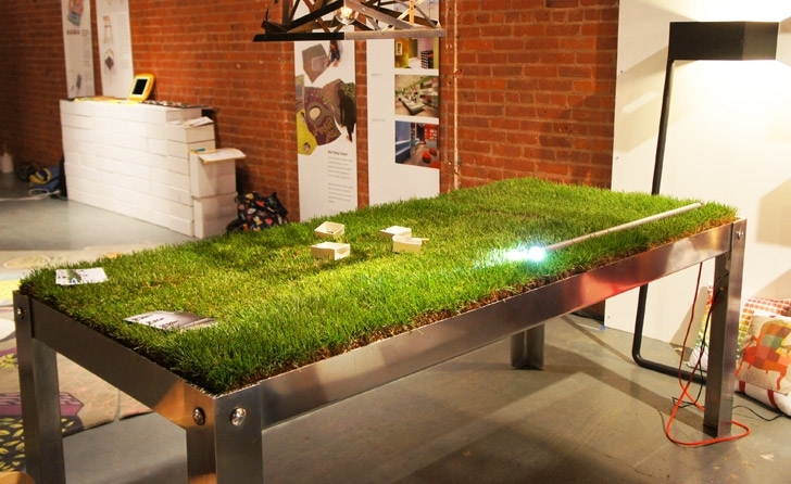 Grassy Picnyc Table Brings Al Fresco Dining To Your Living Room In Green Dining Tables (View 6 of 25)