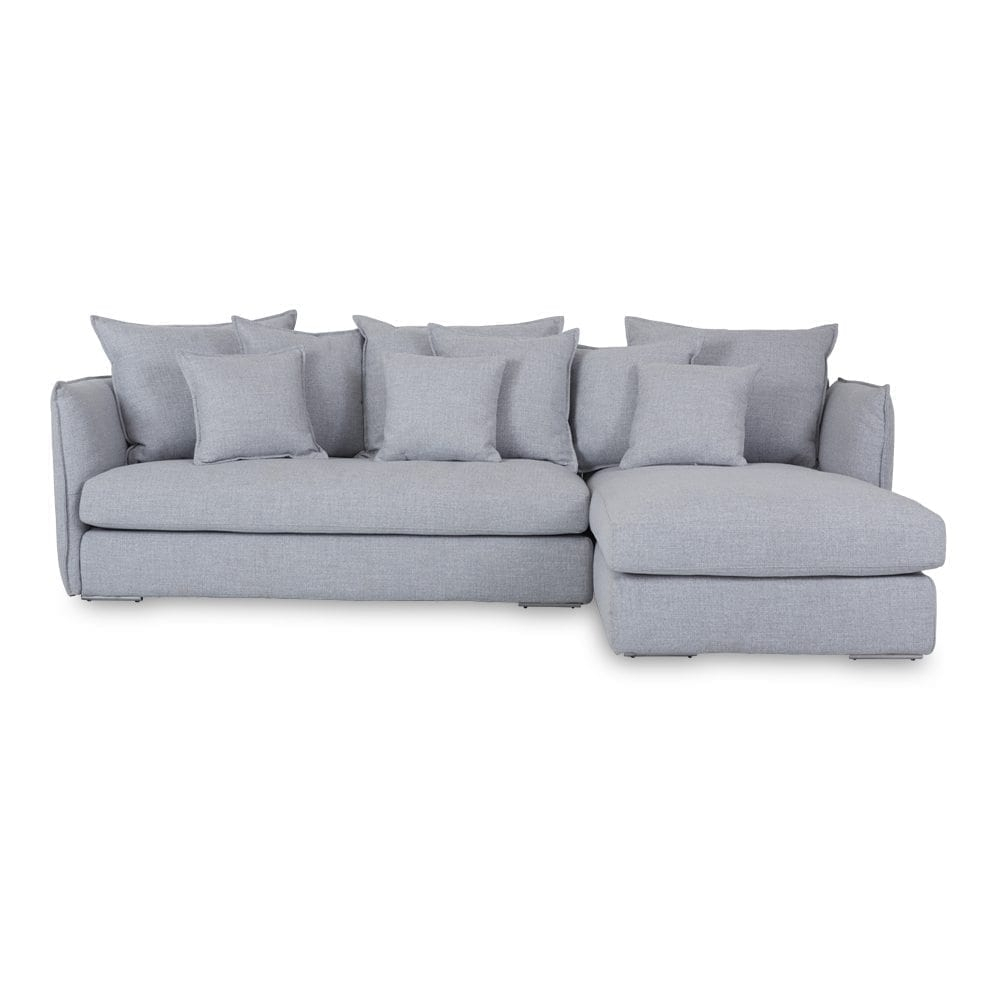 Gray Chaise Sofa – 3D House Drawing • Intended For Taren Reversible Sofa/chaise Sleeper Sectionals With Storage Ottoman (Image 9 of 25)