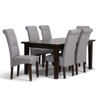 Gray - Dining Room Sets - Kitchen & Dining Room Furniture - The Home with Craftsman 7 Piece Rectangle Extension Dining Sets With Uph Side Chairs