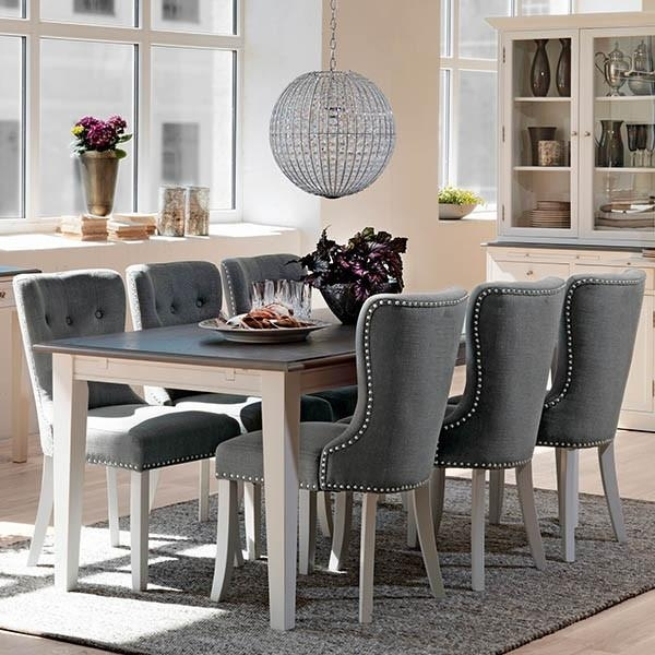 Gray Dining Table Set Best Tables Regarding Grey And Chairs Within Inside Dining Tables Grey Chairs (Image 9 of 25)
